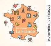 france culture design template... | Shutterstock .eps vector #794568223