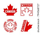 a collection of canadian crests ... | Shutterstock .eps vector #794568727