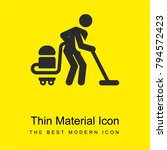 vacuum cleaner bright yellow...