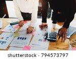 business meeting concept ... | Shutterstock . vector #794573797