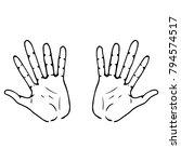 illustration. vector palm of... | Shutterstock .eps vector #794574517