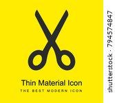 scissors bright yellow material ...