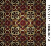 abstract vector tribal vintage...   Shutterstock .eps vector #794577613