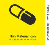 pill bright yellow material...