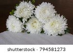 white asters on a black... | Shutterstock . vector #794581273