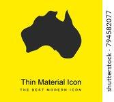 australia bright yellow...