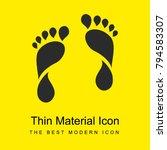 human footprints bright yellow...
