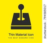 vintage joystick bright yellow... | Shutterstock .eps vector #794585017