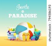summer holiday typographic...   Shutterstock .eps vector #794586193