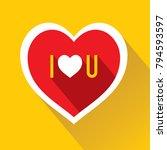 i love you written on red heart ...   Shutterstock .eps vector #794593597