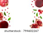 pomegranate juice with fresh... | Shutterstock . vector #794602267