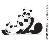 panda bear vector | Shutterstock .eps vector #794606473