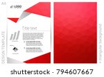 light red vector  brochure for...