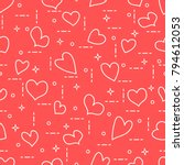 cute seamless pattern with... | Shutterstock .eps vector #794612053