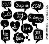 hand drawn set of speech... | Shutterstock .eps vector #794613127
