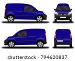 realistic cargo van. front view ... | Shutterstock .eps vector #794620837
