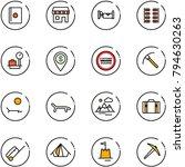 line vector icon set   passport ... | Shutterstock .eps vector #794630263
