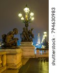 Small photo of Bridge of the Alexandre III, Paris France