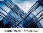 glass architecture of modern... | Shutterstock . vector #794638567