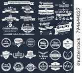 vintage retro vector logo for... | Shutterstock .eps vector #794644027