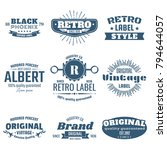 vintage retro vector logo for...   Shutterstock .eps vector #794644057