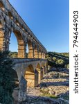 Small photo of Pont du Gard is an old Roman aqueduct near Nimes in Southern France