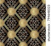 meander greek key tribal vector ... | Shutterstock .eps vector #794648323