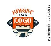 knight escb logo  premium club  ... | Shutterstock .eps vector #794653663