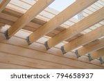 installation of wooden beams at ...   Shutterstock . vector #794658937