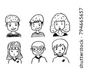 people face cartoon icon | Shutterstock .eps vector #794665657