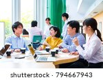 planning meeting at company | Shutterstock . vector #794667943