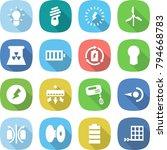 flat vector icon set   bulb... | Shutterstock .eps vector #794668783