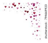 valentines day vector confetti... | Shutterstock .eps vector #794669923