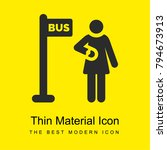 bus stop bright yellow material ...