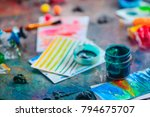 artist tools in creative... | Shutterstock . vector #794675707