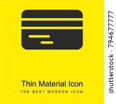 credit card bright yellow...