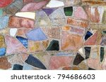 colorful various stones in a... | Shutterstock . vector #794686603
