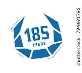 200 years design template.... | Shutterstock .eps vector #794691763