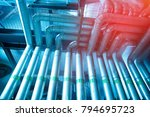 equipment  cables and piping as ... | Shutterstock . vector #794695723