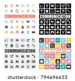 communication icons set | Shutterstock .eps vector #794696653
