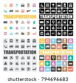 transportation icons set | Shutterstock .eps vector #794696683