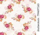 seamless floral pattern with... | Shutterstock .eps vector #794697163