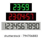 black background green clock... | Shutterstock .eps vector #794706883