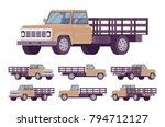 beige empty truck. vehicle to... | Shutterstock .eps vector #794712127