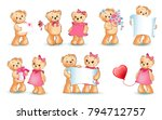 teddy bears collection on... | Shutterstock .eps vector #794712757