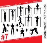 crossfit concept. vector... | Shutterstock .eps vector #794714323