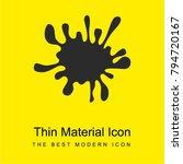 splatter bright yellow material ...