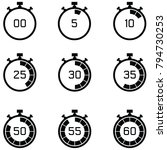 stopwatch icon set | Shutterstock .eps vector #794730253