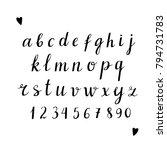 alphabet. numbers  letters ... | Shutterstock . vector #794731783