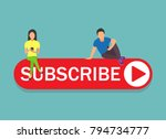subscribe concept illustration... | Shutterstock .eps vector #794734777